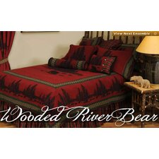 Wooded River Bear 4 Piece Bedding Set