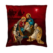 Holiday Elegance A Child is Born Silk Pillow