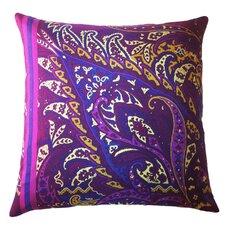 Fiore Vintage Prints Exploded Paisley Silk Pillow