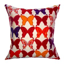 Flower Power Butterfly Silk Pillow