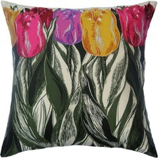 Flower Power Tulip Silk Pillow