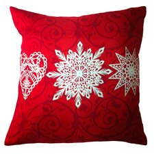 <strong>Filos Design</strong> Holiday Elegance Star Heart Snowflake Silk Pillow