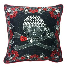 Skull and Crossbones Microfiber Pillow