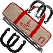 Budweiser Horseshoe with Carry Case Set