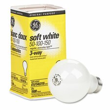 <strong>GE</strong> Three-Way Soft White Incandescent Globe Bulb, 50/100/150 Watts
