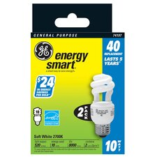 10W Spiral Light Bulb (Pack of 2)