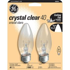 <strong>GE</strong> Blunt Tip Chandelier Light Bulb (Pack of 2)