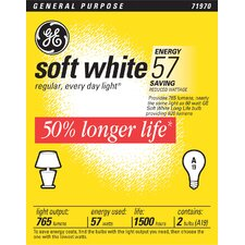 <strong>GE</strong> Long Life Light Bulb (Pack of 2)