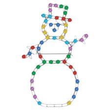 Effects Color Changing Snowman Christmas Decoration