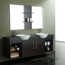 "Contempo 67"" Wall Mounted Double Vanity Set"