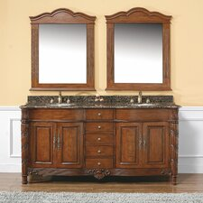 "Classico 72"" Double Granite Vanity Set"