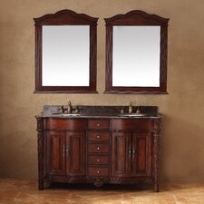 "Classico 60"" Double Granite Vanity Set"