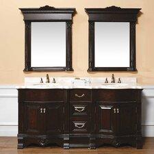 """Classico 72"""" Double Marble Vanity Set"""