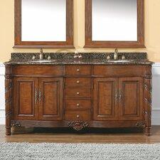 """Classico 72"""" Double Granite Vanity Set"""