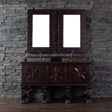 """Balmoral 60"""" Double Vanity Set with Wood Top"""
