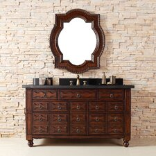 "<strong>James Martin Furniture</strong> Castilian 60"" Single Vanity Set with Stone Top"
