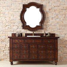 "Castilian 60"" Single Vanity Set with Wood Top"
