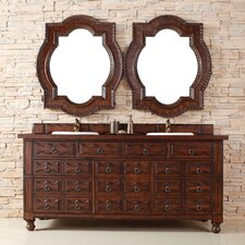 "Castilian 72"" Double Vanity Set with Wood Top"