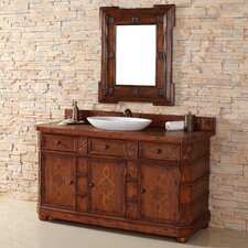 "Charleston 60"" Single Vanity Set with Wood Top"