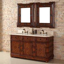 "Charleston 60"" Double Vanity Set with Stone Top"