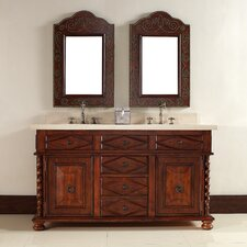 "Continental 60"" Double Vanity Set with Stone Top"