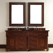 "Continental 72"" Double Vanity Set with Wood Top"