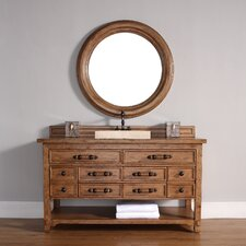 "Malibu 60"" Single Vanity Set with Wood Top"