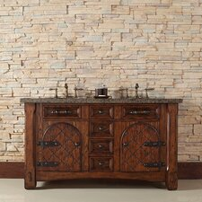 "Marrakesh 60"" Double Vanity Set with Stone Top"