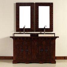 """Monterey 60"""" Double Vanity Set with Wood Top"""