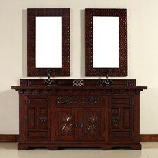 "Monterey 72"" Double Vanity Set with Wood Top"