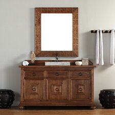 "Mykonos 60"" Single Vanity Set with Wood Top"