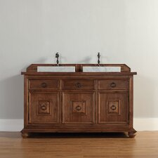 "Mykonos 60"" Double Vanity Set with Wood Top"