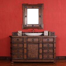 """Regent 60"""" Single Vanity Set with Wood Top"""