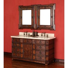 "Regent 60"" Double Vanity Set with Stone Top"