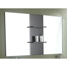 "Carissa 59"" x 32"" Mirror with Shelves"