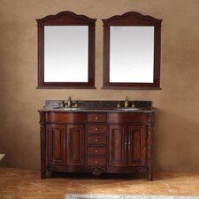 "<strong>James Martin Furniture</strong> 60"" Double Bathroom Vanity Set"