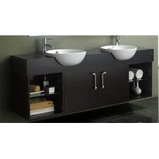 "<strong>James Martin Furniture</strong> Carissa 67"" Double Sink Vanity Set"