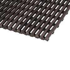 World's Best Barefoot Mat 2' x 10' Safety and Comfort Mat in Black