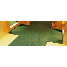 World's Best Barefoot Mat 2' x 6' Safety and Comfort Mat in Forest Green