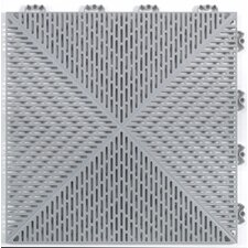 "Quick Click Polypropylene 14.88"" x 14.88"" Interlocking Deck Tiles in Gray"