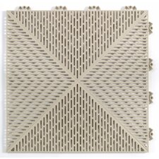 "Quick Click Polypropylene 14.88"" x 14.88"" Interlocking Deck Tiles in Sand"