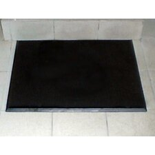 "Brush Klean 24"" x 32"" Black Rubber Entrance Mat"