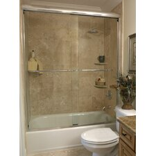 "<strong>Coastal Industries</strong> 3/8"" Frameless Paragon Bypass Shower Enclosure"