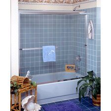 "<strong>Coastal Industries</strong> 3/16"" Frameless Paragon Bypass Shower Enclosure"