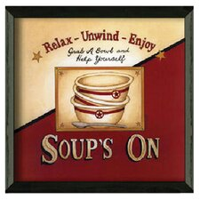 Soup's On by Linda Spivey Framed Graphic Art