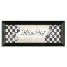Kiss the Chef by Becca Barton Framed Graphic Art