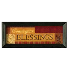 Count Your BlessIngs by Becca Barton Framed Graphic Art