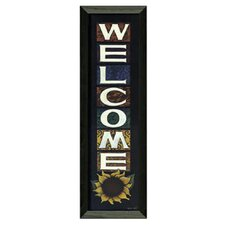 Welcome by Tonya Crawford Framed Graphic Art