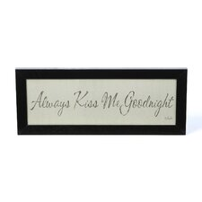Kiss Me Goodnight by Lauren Rader Framed Textual Art