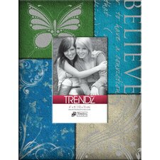 <strong>Timeless Frames</strong> Trendz Believe Decoupage Tabletop Photo Frame